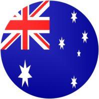 Bandiera australiana in cerchio
