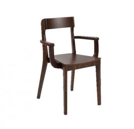 Wooden Chair With A Classic Design And Feature Back