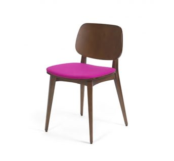 Black beech leg frame side chair