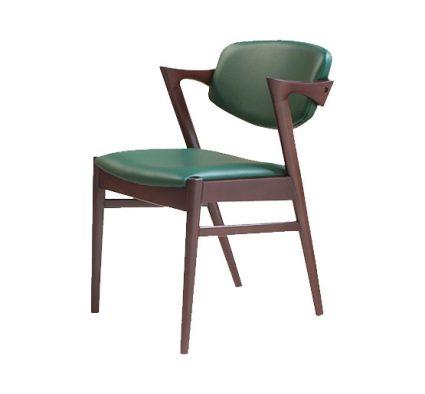 Beech leg frame armchair