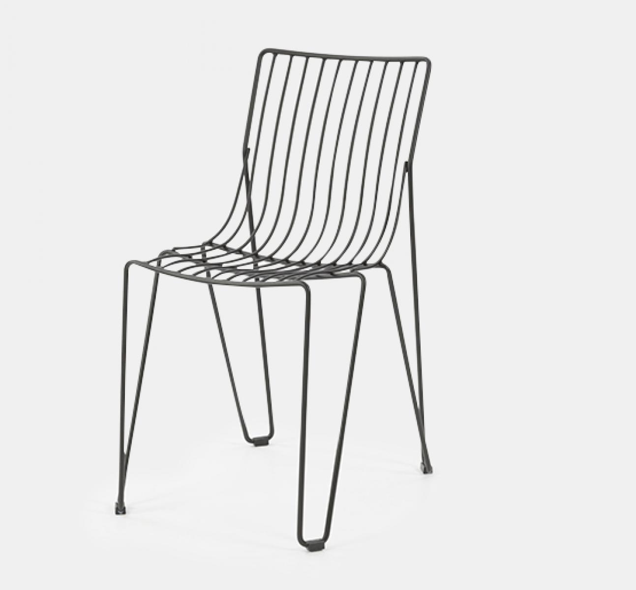 Anthracite Basquiat Metal Side Chair Uhs