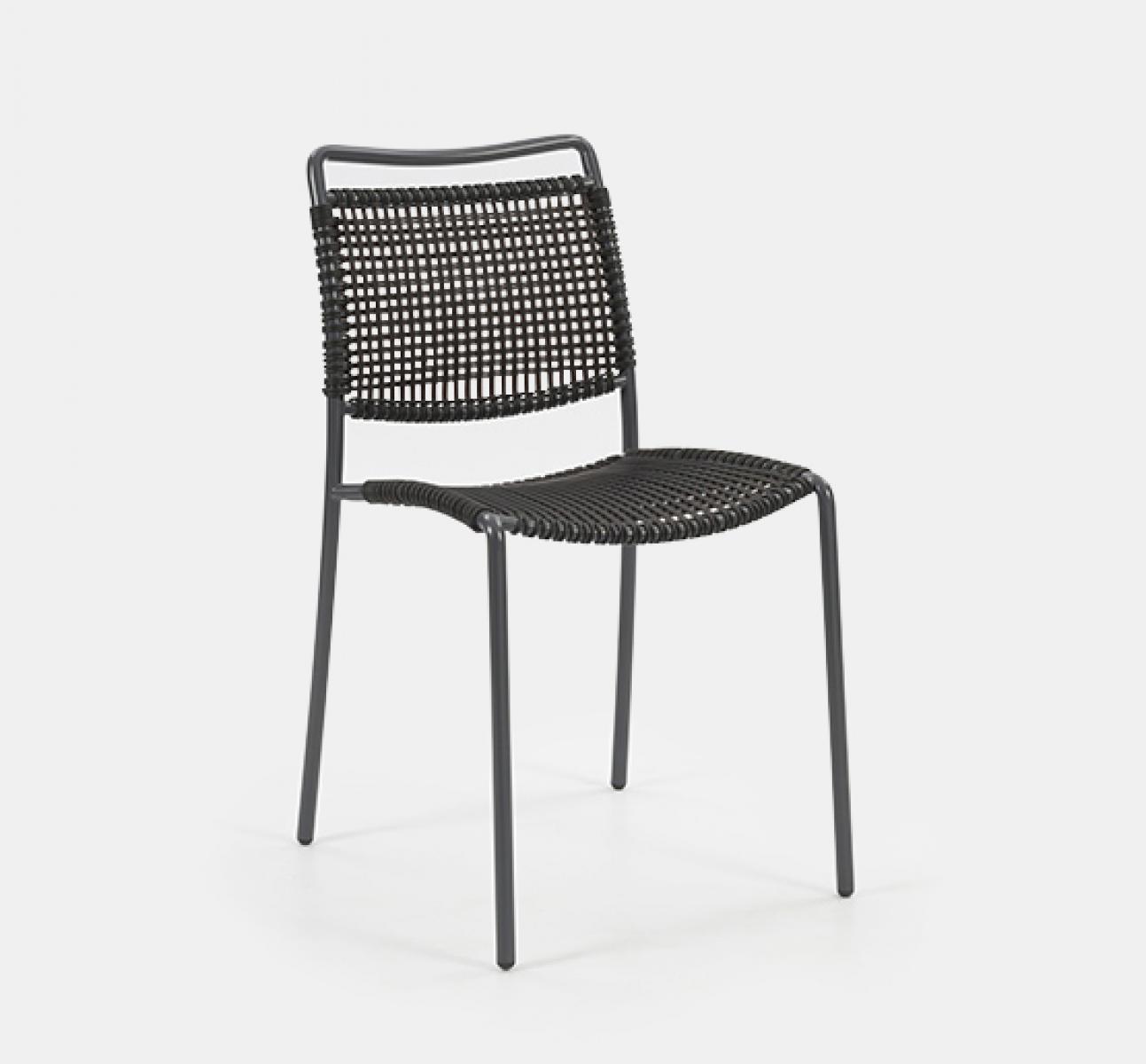 Fly Side Chair Black Frame Black Net Uhs