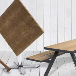 Wooden outdoor furniture from the mill collection