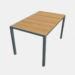 Mill Table Top with galvanised frame 760x1830mm - Coppered Oak