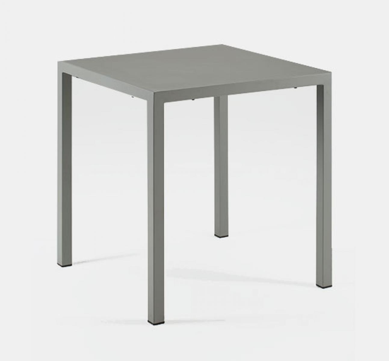 Adaptable dining table in grey