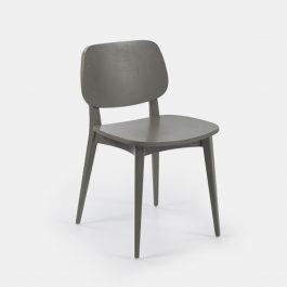Black beech leg frame side chair