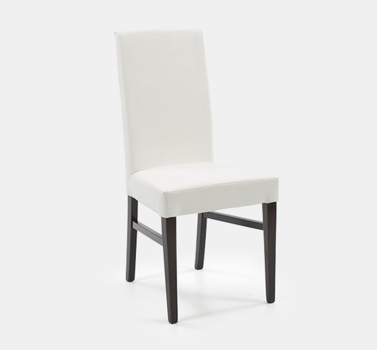 White upholstered dining chair