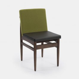 mid century style upholstered sidechair