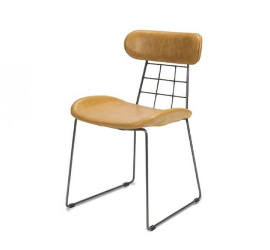 eyecatching wireframe design side chair