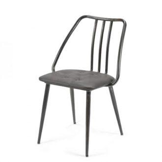 Chaise industrielle avec coussin rembourré