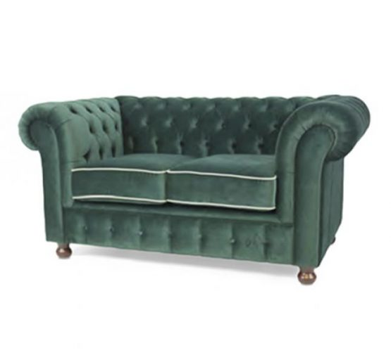 two seater sofa with green upholstery