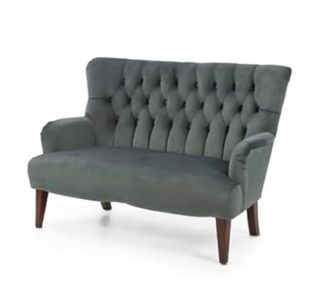two seater sofa with grey upholstery
