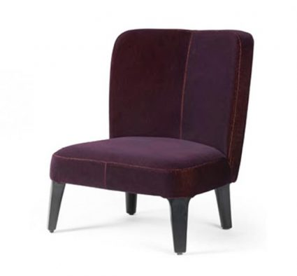 side chair dark upholstery wooden legs