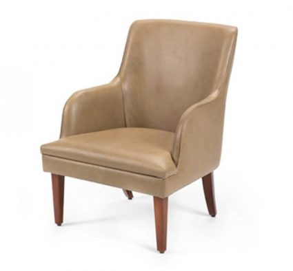 side chair wooden leg beige upholstery