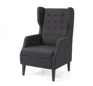 fulham highback armchair