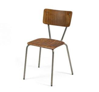 Chaise en bois, assise et dossier couleur vert