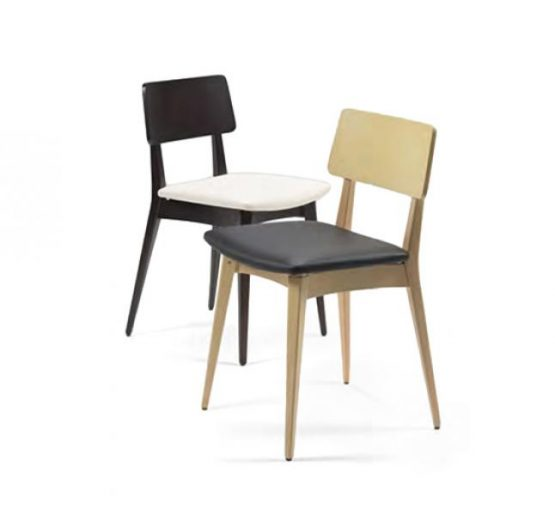 Black and white and gold and black beech side chairs