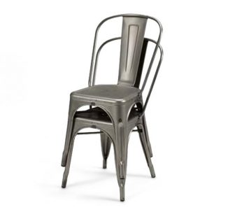 metal frame side chair stacked