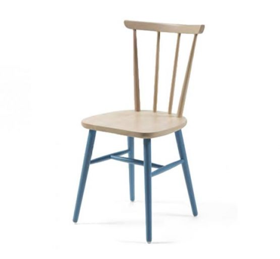 Beech ply-formed stacking side chair