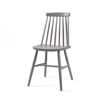 Beech side chair with upholstered seat pad