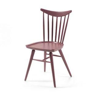 Beech leg frame side chair red