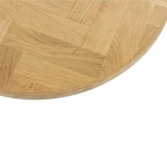 Blenheim Parquet Round Chevron Table Top