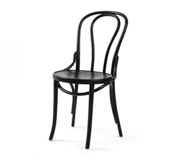 metal side chair with seat pad - black