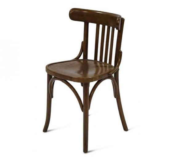 Wooden side chair with frame back
