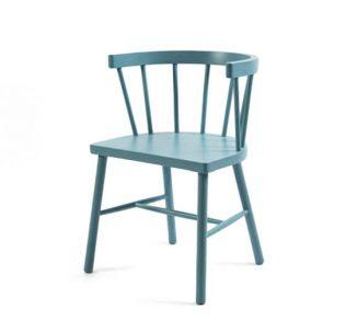 Beech side chair blue