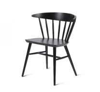 Beech leg frame side chair black