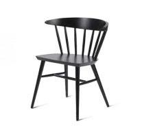 Beech leg frame side chair black