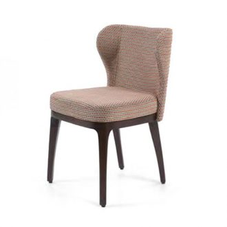 Fine dining chair upholstered seat and back