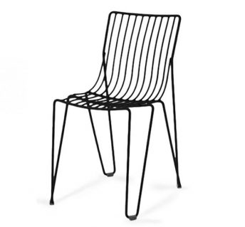Basquiat Metal Side Chair - Black