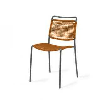 Contemporary wireframe side chair