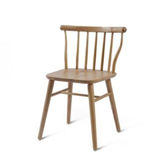 beech leg frame back chair