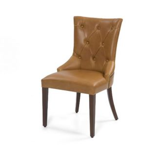 Upholstered beech frame side chair