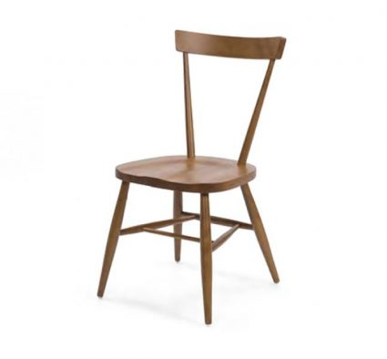 Classic side chair with clean simplistic lines