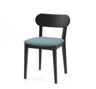Chaise en bois, dossier en losange