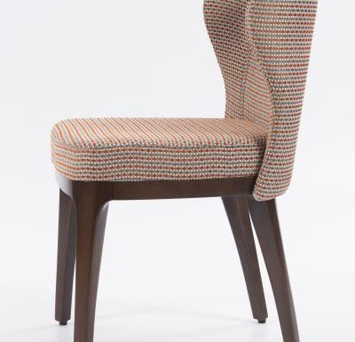 Fine dining chair upholstered seat and back red upholstery side