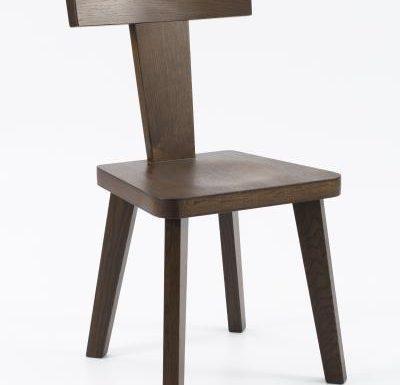 New design café chair brown front view