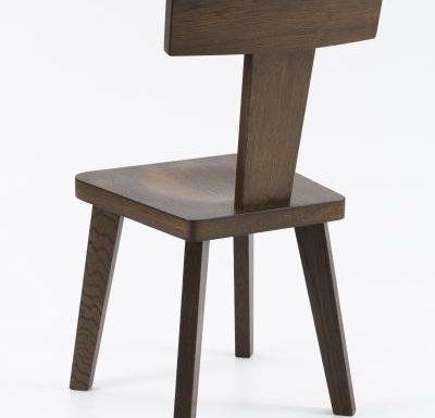 New design café chair brown rear view
