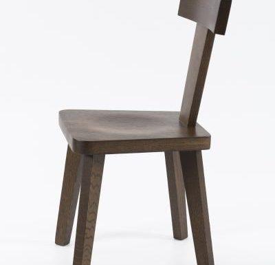 New design café chair brown side view