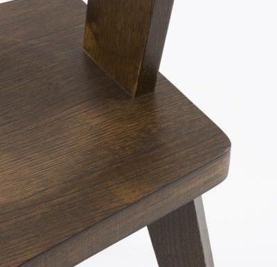 New design café chair brown close up