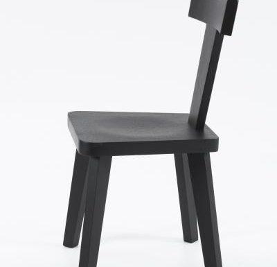 New design café chair black side view