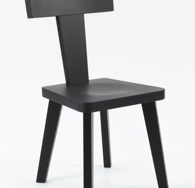 New design café chair black front view