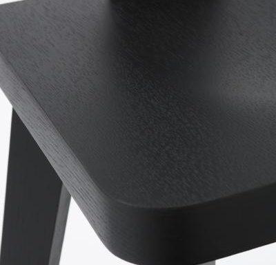New design café chair black close up