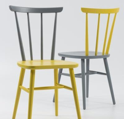 Beech ply-formed stacking side chair matching colours