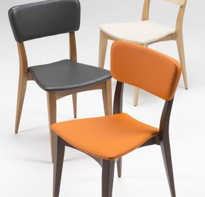 Beech leg frame side chair all colours