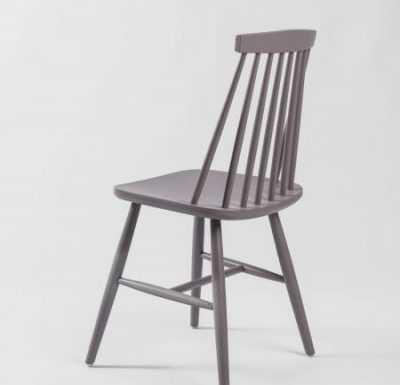 Beech side chair grey rear view