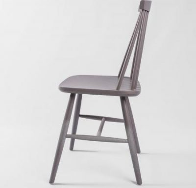 Beech side chair grey side view